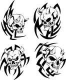 Skulls with horns Stock Photos