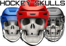 Skulls with ice hockey helmet Royalty Free Stock Image