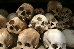 Skulls - Killing Fields, Cambodia Stock Photos