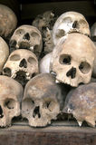Skulls at Killing Fields- Phnom Penh, Cambodia Royalty Free Stock Photos