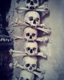 Skulls of Kutna Hora in Prague Czech Republic Stock Photos