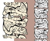 Skulls of monsters pattern Stock Photography