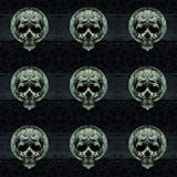 Skulls Motif Dark Decorative Seamless Pattern Royalty Free Stock Photo