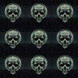 Skulls Motif Dark Decorative Seamless Pattern Royalty Free Stock Photo