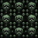 Skulls Motif Dark Seamless Pattern Royalty Free Stock Image