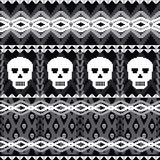 Skulls ornamental pattern Royalty Free Stock Images
