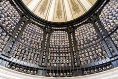 Skulls in an ossuary, Italy Royalty Free Stock Photo