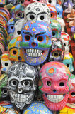 Skulls painted in traditional mayan motif Stock Photography