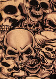 Skulls print. Close up background Stock Image