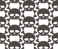 Skulls regular seamless pattern. Royalty Free Stock Image
