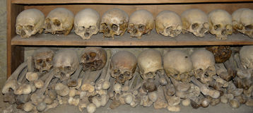 Skulls and remains of bonds Stock Photo