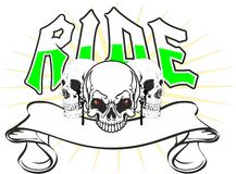 Skulls ride Stock Photography