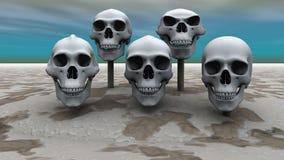 Skulls in a row Stock Photos