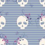 Skulls seamless pattern Stock Image