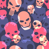 Skulls seamless pattern Stock Photography