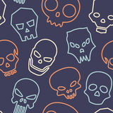 Skulls seamless pattern Stock Image
