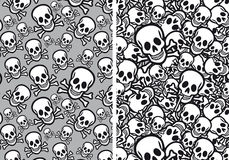 Skulls seamless patterns, vector Stock Photography