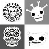 Skulls set Royalty Free Stock Photo