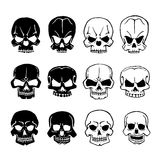 Skulls set Royalty Free Stock Images