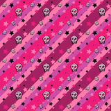 Skulls and Stars seamless emo pattern Stock Image