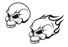 Skulls tattoo Stock Images