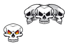 Skulls tattoo Stock Image