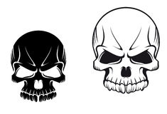 Skulls tattoos Stock Photography
