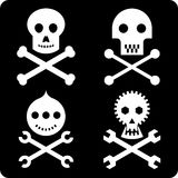 Skulls (vector). Only one color. Technical precision Royalty Free Stock Image