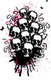 Skulls Vector Illustration Stock Photography