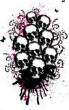 Skulls Vector Illustration. Dirty Grunge Skulls Vector Illustration Stock Photography