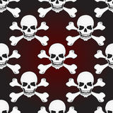 Skulls vector seamless pattern Stock Photo