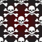 Skulls vector seamless pattern Stock Photo