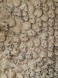 Skulls in a wall Royalty Free Stock Photo