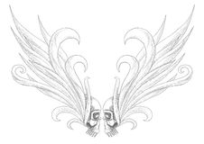 Skulls with wings Royalty Free Stock Images