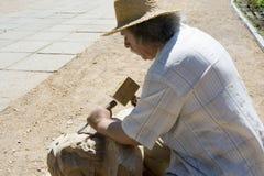 skulptör arkivfoton