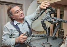 Skulptör Royaltyfria Foton