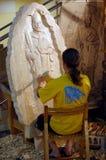 skulptörarbete Royaltyfria Bilder