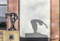 Skulptera framme av panoramamuseet i dåliga Frankenhausen, bakterie Arkivbilder