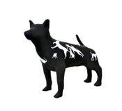Skulptera hunden Arkivbilder