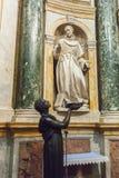 Skulptera i den inre nollan Siena Cathedral Duomo di Siena, det Fotografering för Bildbyråer