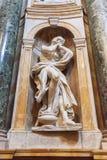 Skulptera i den inre nollan Siena Cathedral Duomo di Siena, det Royaltyfria Bilder