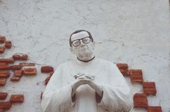 Skulptera på ett kapell i San Fernando, Pampanga, Filippinerna Royaltyfri Bild