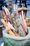 skulpterar trä fotografering för bildbyråer