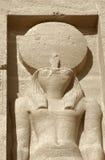 Skulptur an Abu Simbel-Tempeln in Ägypten Stockbilder