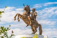 Skulptur Alexander det stort Arkivbilder