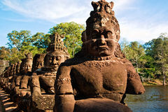Skulptur in Angkor Stockbild