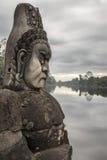 Skulptur in Angkor Wat Lizenzfreies Stockbild
