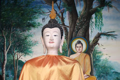 Skulptur, Architektur und Symbole von Buddhismus, Thailand Lizenzfreies Stockfoto