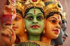 Skulptur, Architektur und Symbole von Hinduismus und von Buddhismus stockbild