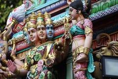 Skulptur, arkitektur och symboler av Hinduism och buddism Royaltyfria Foton